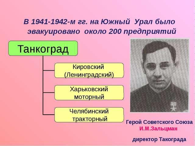 В 1941-1942-м гг. на Южный Урал было эвакуировано около 200 предприятий Геро...