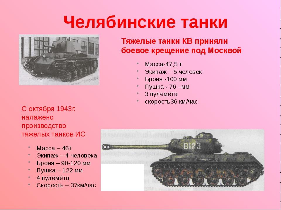 Челябинские танки Тяжелые танки КВ приняли боевое крещение под Москвой С окт...