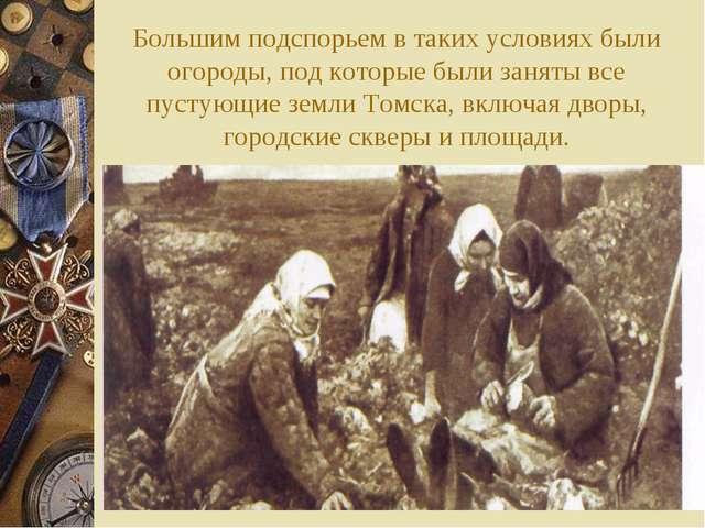 Большим подспорьем в таких условиях были огороды, под которые были заняты все...