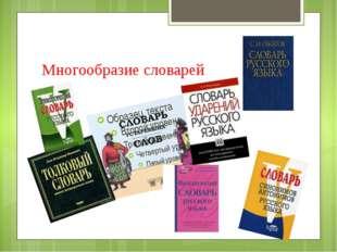 Многообразие словарей