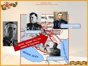 Операция «Уран» - контрнаступление советских войск Н.Ф.Ватутин К.К.Рокоссовс
