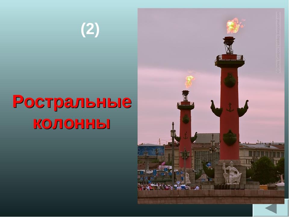 (2) Ростральные колонны