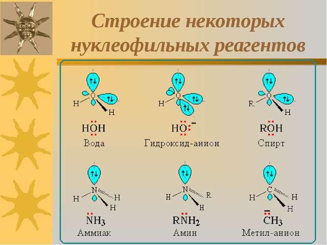 Строение некоторых нуклеофильных реагентов