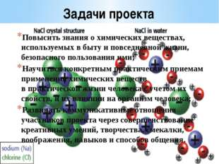 Задачи проекта Повысить знания о химических веществах, используемых в быту и