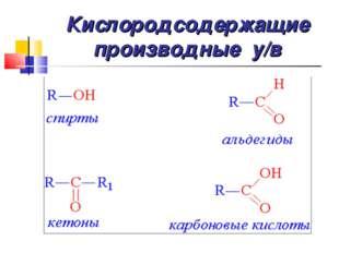 Кислородсодержащие производные у/в