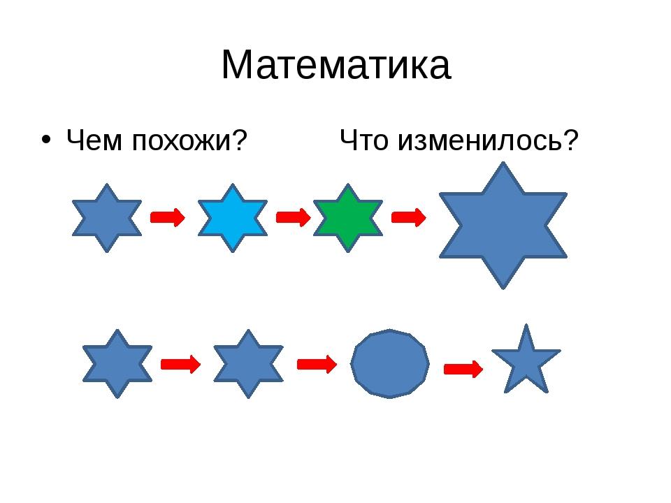 Математика Чем похожи? Что изменилось?