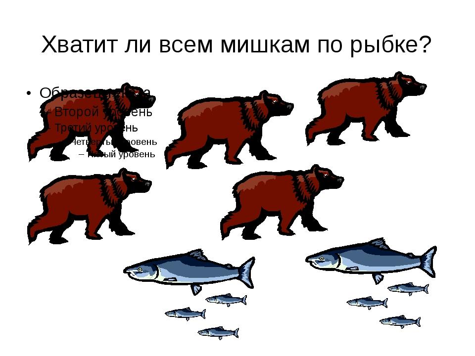Хватит ли всем мишкам по рыбке?