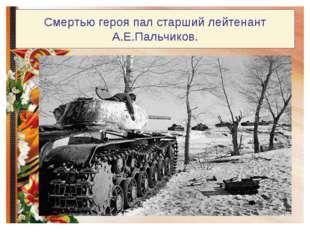 Смертью героя пал старший лейтенант А.Е.Пальчиков.