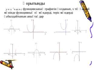 функциясының графигін қолданып, х тің қандай мәнінде функцияның оң мәндерді