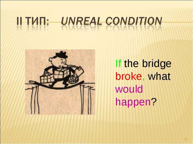 * If the bridge broke, what would happen? Tregubenko N.V.