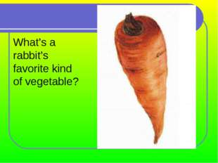 What's a rabbit's favorite kind of vegetable?