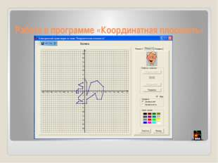 Работа в программе «Координатная плоскость»