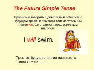 The Future Simple Tense Правильно говорить о действиях и событиях в будущем в