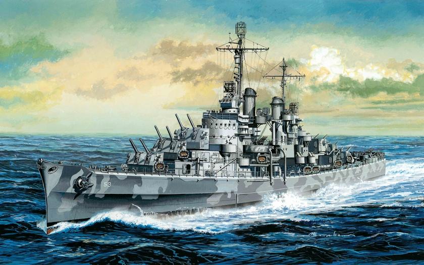 арт, крейсер, легкий, флот, корабль