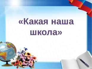 «Какая наша школа»