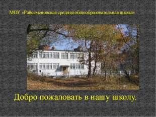МОУ «Райсеменовская средняя общеобразовательная школа» Добро пожаловать в на