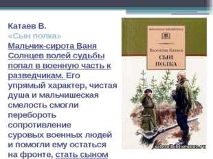 Катаев В. «Сын полка» Мальчик-сирота Ваня Солнцев волей судьбы попал в военну