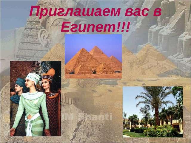 Приглашаем вас в Египет!!!