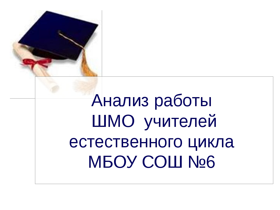 Анализ работы ШМО учителей естественного цикла МБОУ СОШ №6