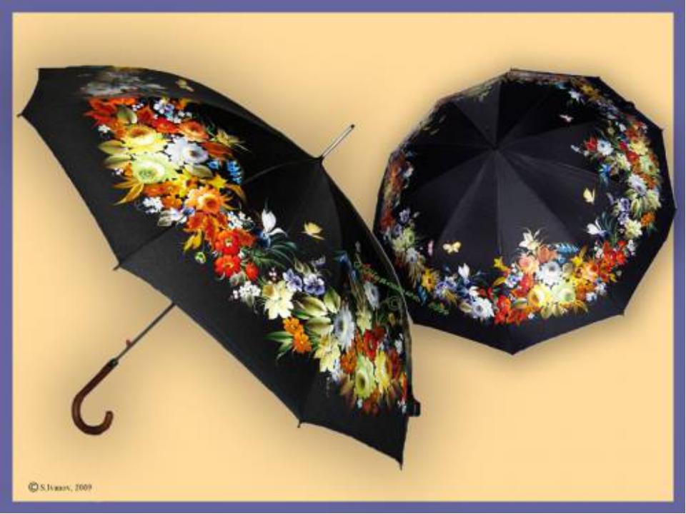 Мастер класс роспись зонта