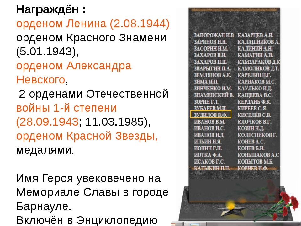 После войны В.Ф.Зудилов продолжал службу в ВВС Советской Армии. Командовал а...