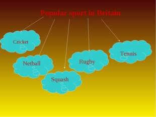 Popular sport in Britain Netball Squash Cricket Rugby Tennis