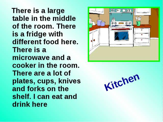 There is a large table in the middle of the room. There is a fridge with dif...