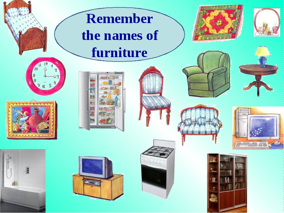 Remember the names of furniture