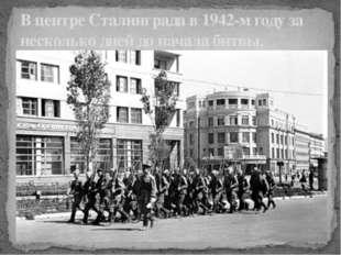В центре Сталинграда в 1942-м году за несколько дней до начала битвы.
