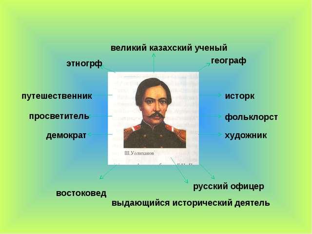 выдающийся исторический деятель русский офицер востоковед художник фольклор...