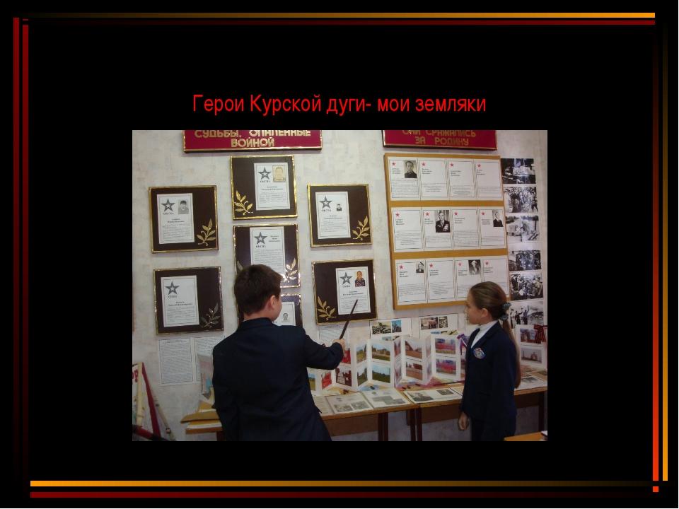 Герои Курской дуги- мои земляки