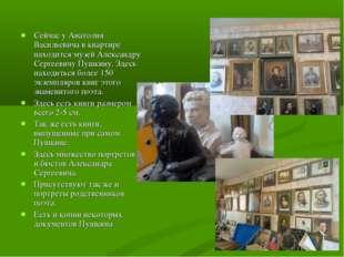 Сейчас у Анатолия Васильевича в квартире находится музей Александру Сергеевич