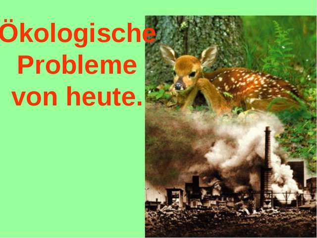 Ökologische Probleme von heute.