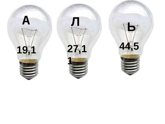 А 19,1 Л 27,11 Ь 44,5