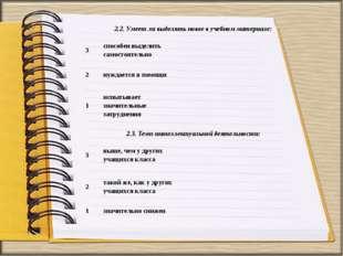 2.2. Умеет ли выделять новое в учебном материале: 3способен выделить самост