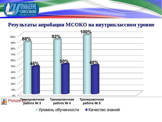 Результаты апробации МСОКО на внутриклассном уровне