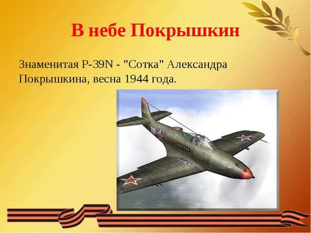 "В небе Покрышкин Знаменитая P-39N - ""Сотка"" Александра Покрышкина, весна 1944..."