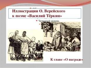 Иллюстрации Иллюстрации О. Верейского к поэме «Василий Тёркин» К главе «О на