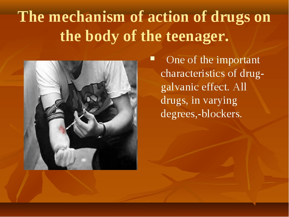 mechanism of action of drugs affecting