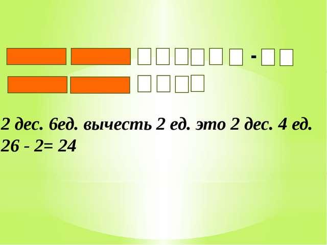 При вычитании чисел из единиц вычитают единицы, а из десятков десятки.