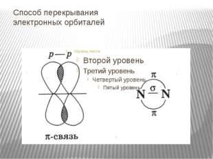 Способ перекрывания электронных орбиталей