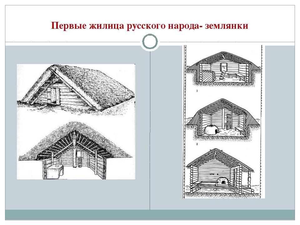 Первые жилица русского народа- землянки