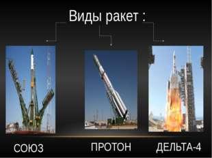 Виды ракет : СОЮЗ ПРОТОН ДЕЛЬТА-4