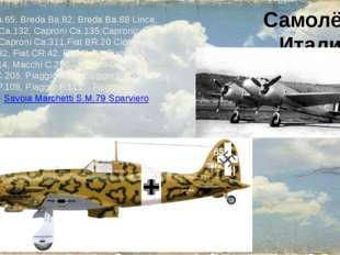 Самолёты Италии Breda Ba.65, Breda Ba.82, Breda Ba.88 Lince, Caproni Ca.132,
