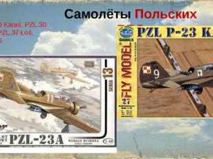 СамолётыПольских ВВС PZL.23 Karaś, PZL.30 Zubr, PZL.37 Łoś, PZL.46
