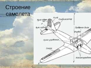 Строение самолета Крыло— создаёт при поступательном движении самолёта необхо