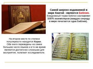На втором месте по степени популярности находится Коран. Обе книги переведены