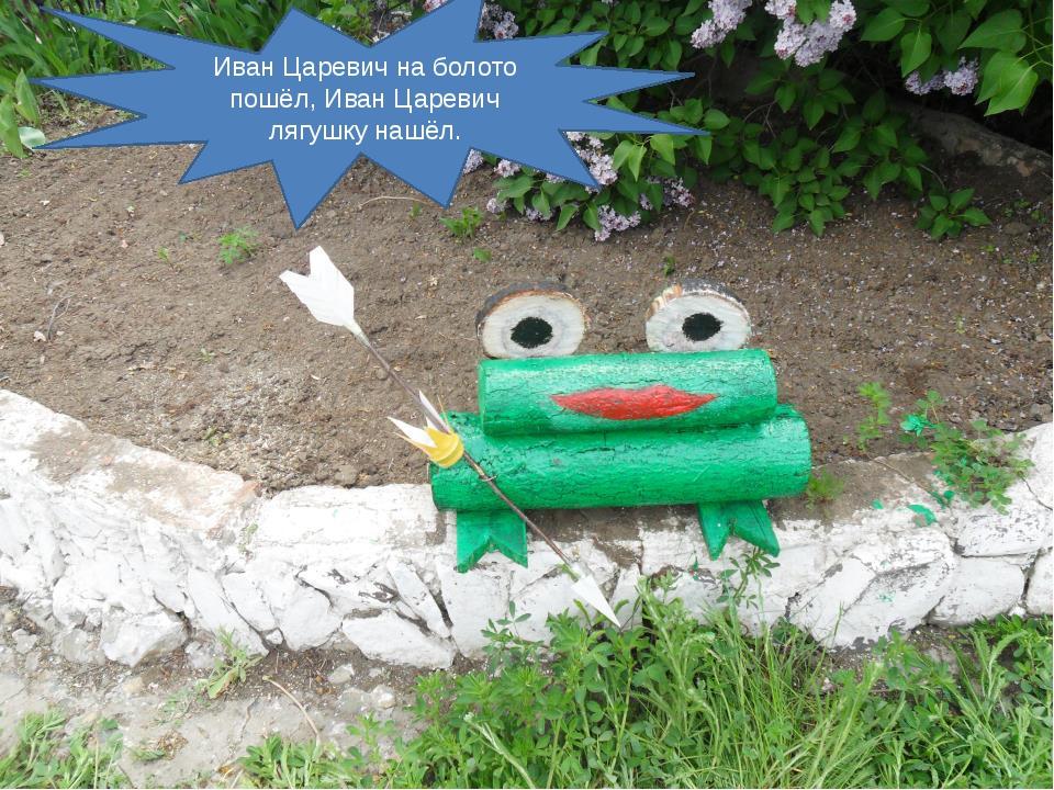 Иван Царевич на болото пошёл, Иван Царевич лягушку нашёл.