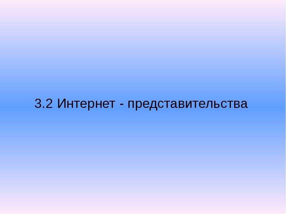3.2 Интернет - представительства