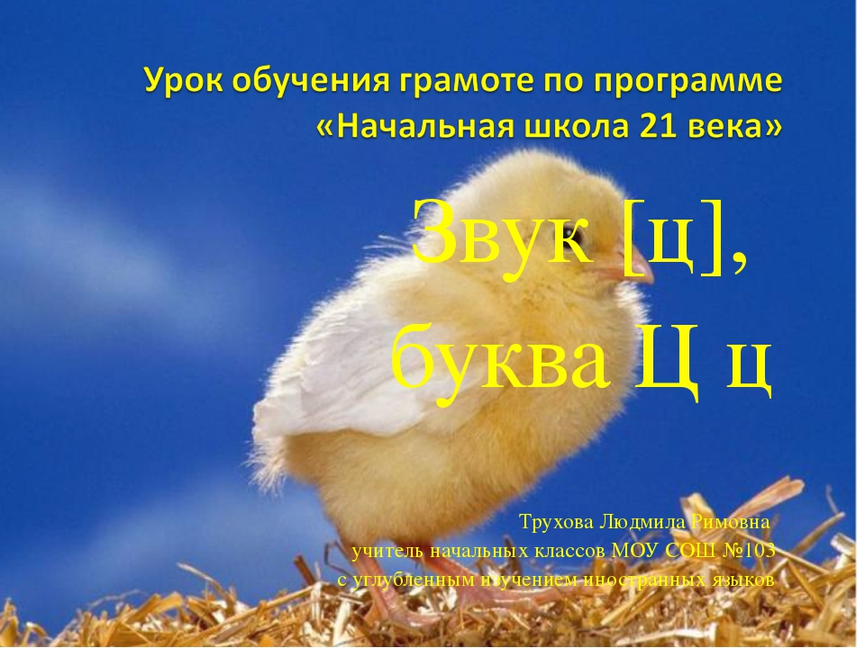 Звук [ц], буква Ц ц Трухова Людмила Римовна учитель начальных классов МОУ СОШ...